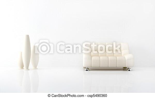 Interior blanco - csp5490360