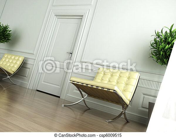 Interior blanco clásico inclinado - csp6009515