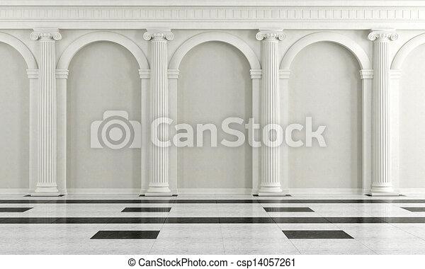 Interior blanco y negro - csp14057261
