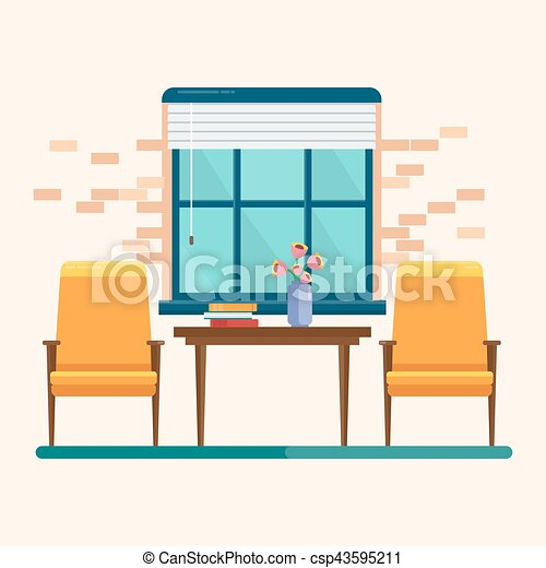 interior blue window interior fashionable living room two rh canstockphoto com living room clip art free living room clip art black and white