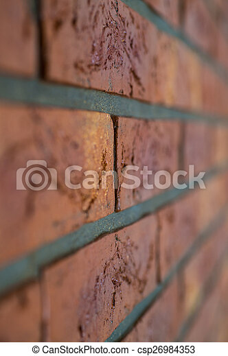 Interior brick wall close up with shallow depth of field - csp26984353