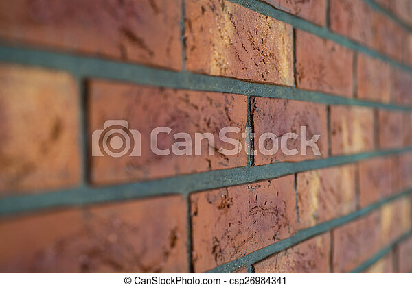 Interior brick wall close up with shallow depth of field - csp26984341