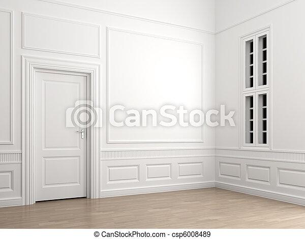 interior, canto, sala, vazio, clássicas - csp6008489