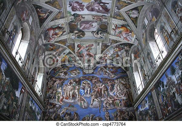El interior de la capilla Sixtina - csp4773764