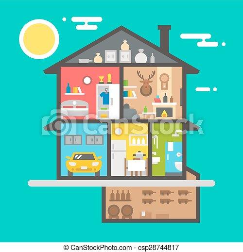 Interior casa desenho apartamento apartamento casa for Disegno casa interno