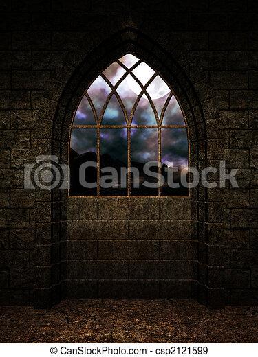 Interior Castle Background  - csp2121599