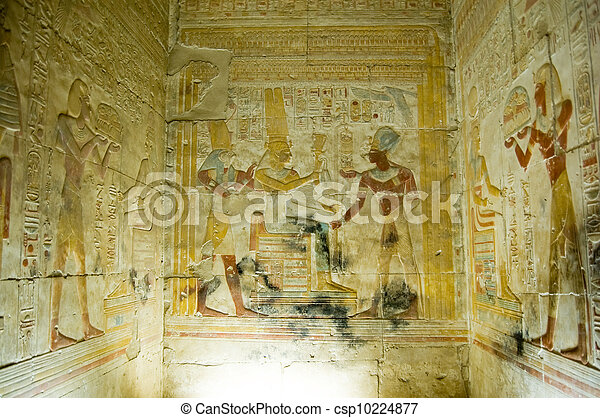 Interior Chapel, Temple of Abydos - csp10224877
