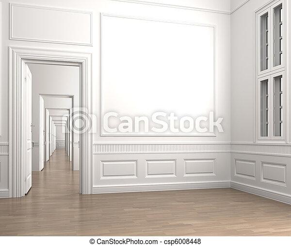 interior classic room corner empty - csp6008448