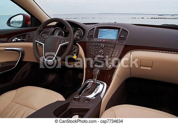 interior, coche, moderno - csp7734634