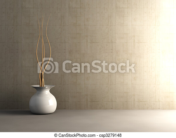 Interior de concreto - csp3279148