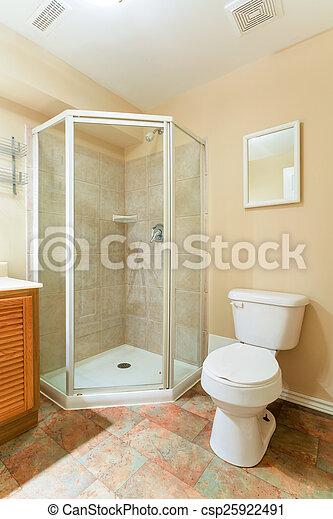 Interior, cuarto de baño, diseño. Interior, casa, cuarto de baño ...