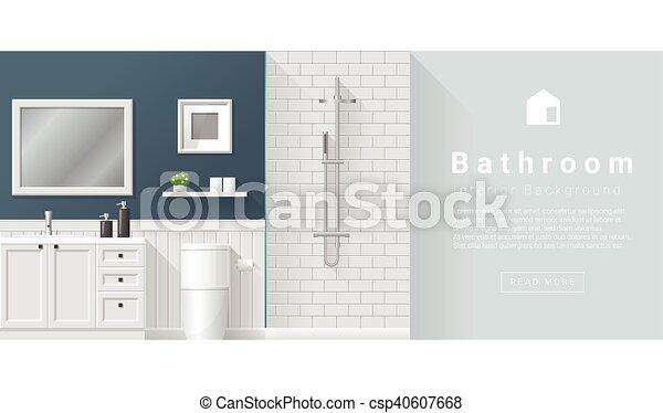 Diseño de interiores modernos antecedentes de baño - csp40607668