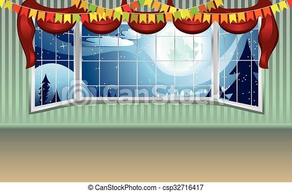 El interior de la ventana abierta - csp32716417