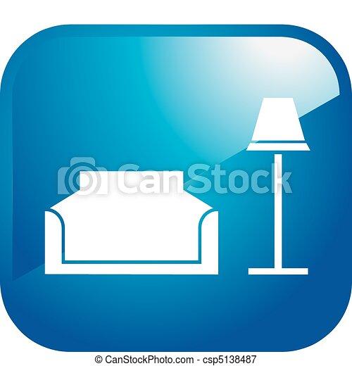 Interior Design Icon Vectors Illustration