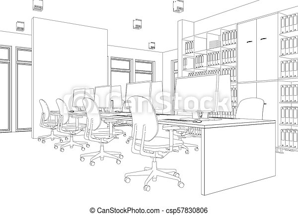Interior Design Living Room Drawing Gradation Into Photograph