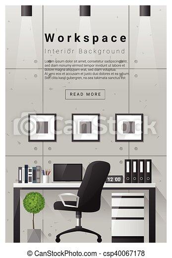 Interior Design Modern Workspace Banner 8 Interior Design