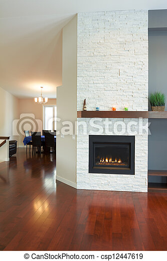Interior design of modern Living room - csp12447619