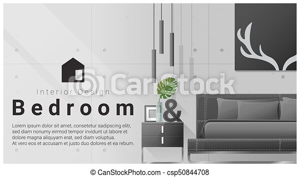 Interior Design With Modern Bedroom Background 9 Interior Design