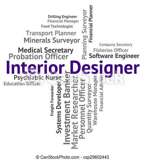 Interior Designer Shows Hire Words And Occupations   Csp29602443
