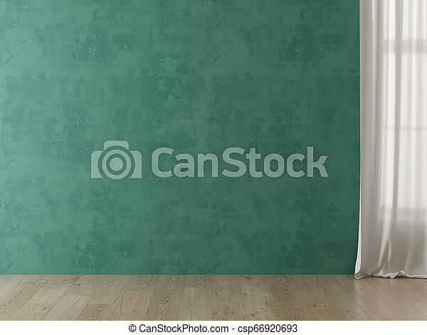Interior empty room 3D rendering - csp66920693