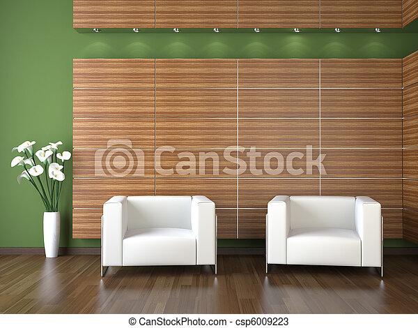 Diseño interior de sala de espera moderna - csp6009223
