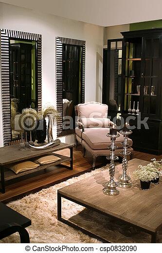 interior, estilo, clásico - csp0832090