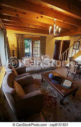 El interior de la sala, casa - csp8151631