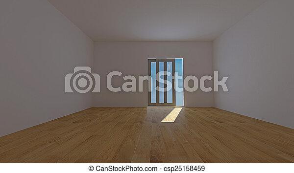 Habitación interior vacía - csp25158459