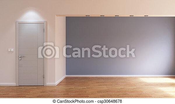 Habitación interior vacía - csp30648678