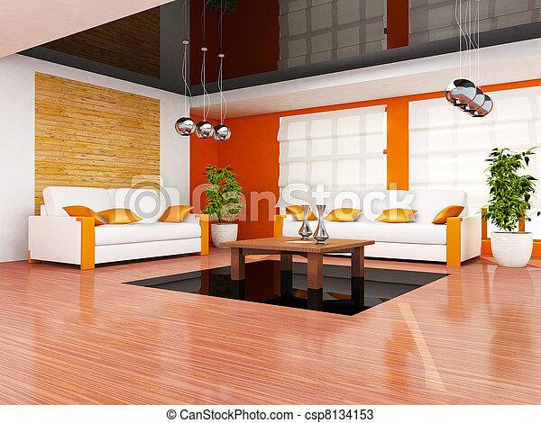 Interior moderno - csp8134153