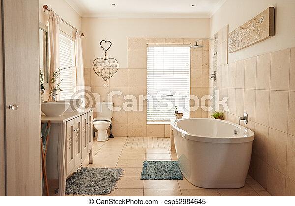 interior, hogar, cuarto de baño, contemporáneo, elegante