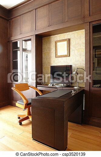 interior, hogar, habitación, oficina - csp3520139