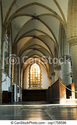 interior, iglesia - csp1758596