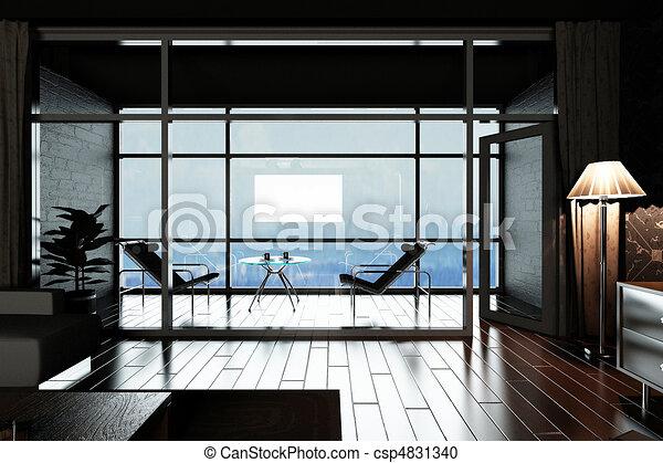 Interior living-room - csp4831340