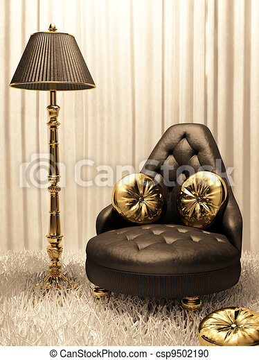 Muebles lujosos en el interior del diseño - csp9502190