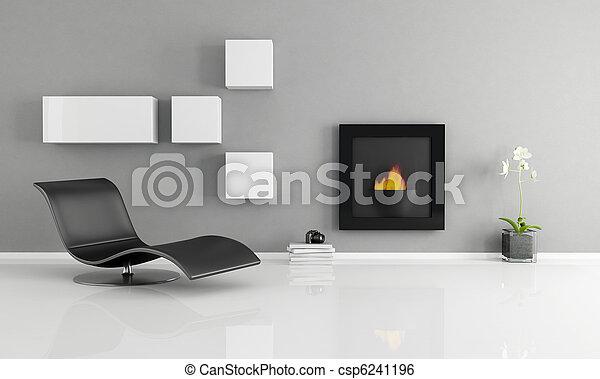 Interiores minimalistas - csp6241196