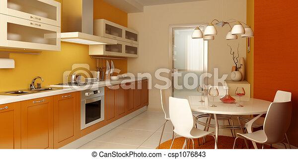 Interior moderno de cocina - csp1076843