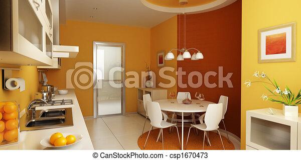 Interior moderno de cocina - csp1670473