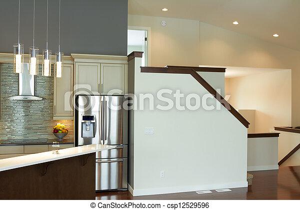 Diseño moderno de interiores de cocina. Diseño interior de ...