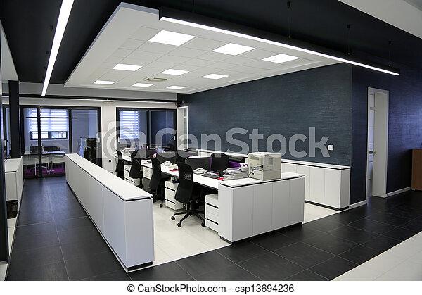 interior, moderno, oficina - csp13694236