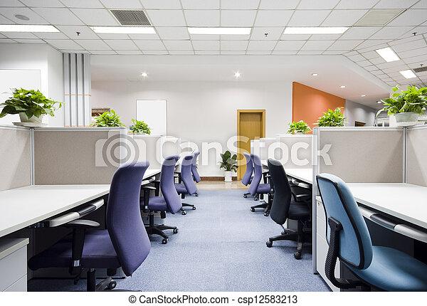 interior, moderno, oficina - csp12583213