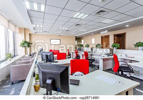 interior, moderno, oficina - csp28714981