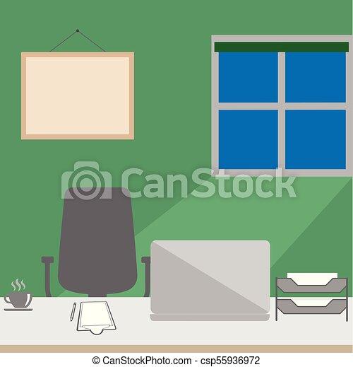 Interiores modernos y vacíos - csp55936972