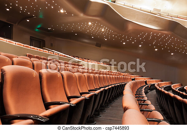 Interior moderno del teatro - csp7445893