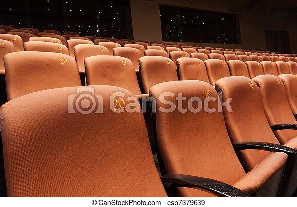 Interior moderno del teatro - csp7379639