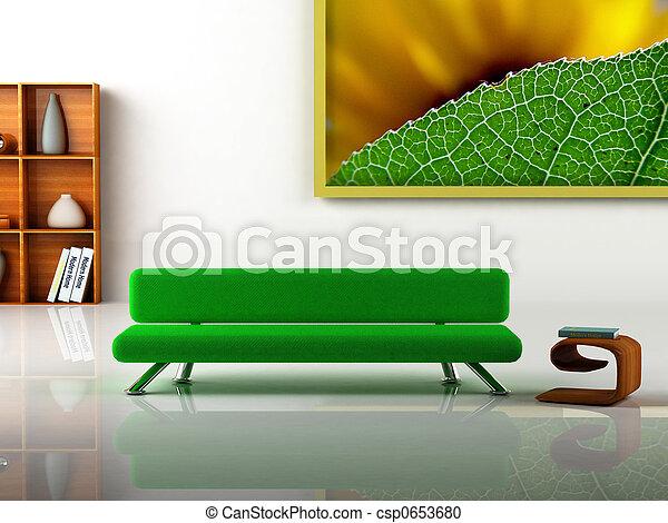 interior, modernos - csp0653680