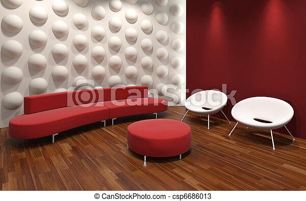 interior, modernos, desenho - csp6686013