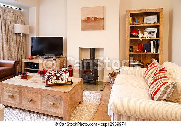 interior, modernos, natal - csp12969974