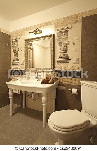 interior of a bathroom - csp3430091