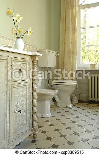 interior of a bathroom - csp3389515